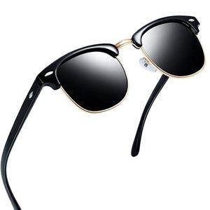 Semi Rimless Polarized Sunglasses